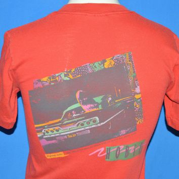 80s Hobie Surfing Neon Hot Rod t-shirt Youth Medium