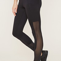 Active Mesh-Paneled Leggings | Forever 21 - 2000185291