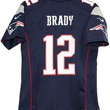 Tom Brady New England Patriots Team Color Youth Nike Game Jersey (large)