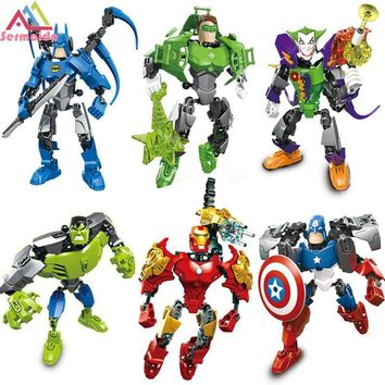 Batman Dark Knight gift Christmas iron Man Hulk Batman Joker Catman Figure Poison Ivy Robin Mr Freeze Calendar Man Harley Quinn Building Blocks Models Toys B323 AT_71_6