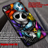 Nightmare Stained Glass | Nightmare Before Chrismast | Stained Glass | Jack Skellington and Sally | case/cover for iPhone 4/4s/5/5c/6/6+/6s/6s+ Samsung Galaxy S4/S5/S6/Edge/Edge+ NOTE 3/4/5 #cartoon #disney #theNightmareBeforeChristmas ii