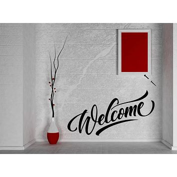Large Vinyl Decal Wall Sticker Welcome Lettering House Decor (n998)