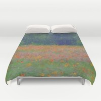 Colorful Floral Carpet Duvet Cover by Lena Photo Art