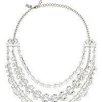 Kate Spade Crystal Garden Statement Necklace Clear ONE