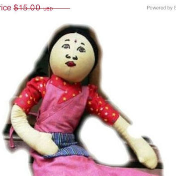 20% OFF SUMMER SALE Vintage Rag Doll