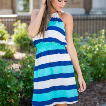 In The Sail Dress Blue From The Mint Julep Boutique Summer