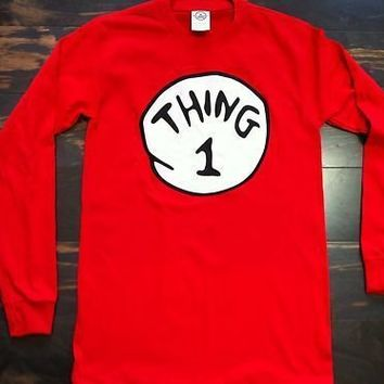 DR. SEUSS THING 1 - 6  ADULT LONG SLEEVE SHIRT S-2XL