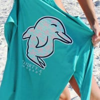 Thirty-A Threads | Give 'em Shell Long Sleeve Pocket Tee (Truman Turquoise)