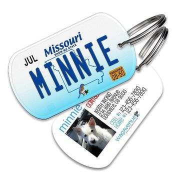 Missouri License Plate Pet Tag