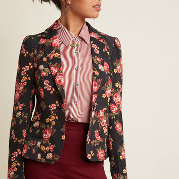 Stargazing Splendor Blazer in Evening Garden