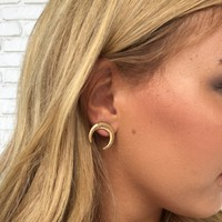 Crescent Nights Earrings In Gold