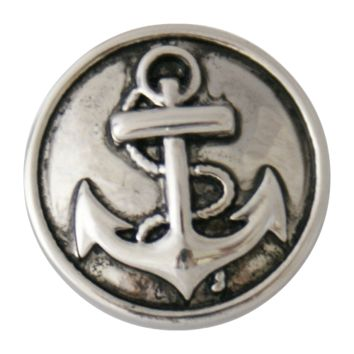 Chunk Snap Charm Antique Silver Anchor 20 mm
