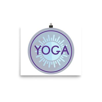 Reiki Charged Yoga Poster Purple Blue Circle