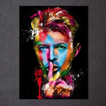 Fast US Ship - David Bowie Rock Roll Abstract Wall Art Print