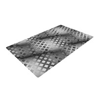 "Michael Sussna ""Array Decay"" Checkered Gray Woven Area Rug"