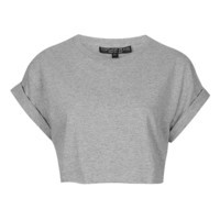 Petite Roll Back Crop Tee - Topshop USA