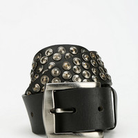 Mick Hammered Stud Leather Belt - Urban Outfitters