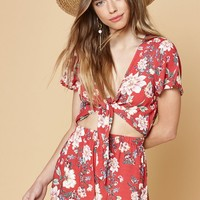 Kendall and Kylie Tie Front Romper at PacSun.com