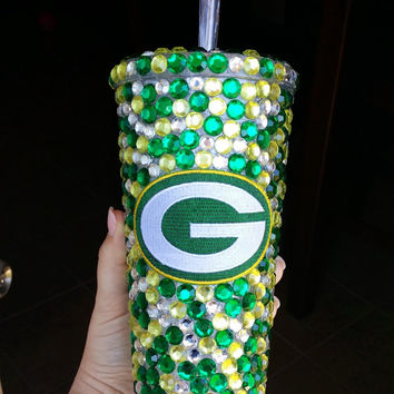 Green Bay Packers Bling Tumbler