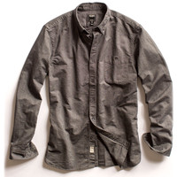 Grey Selvedge Oxford Shirt