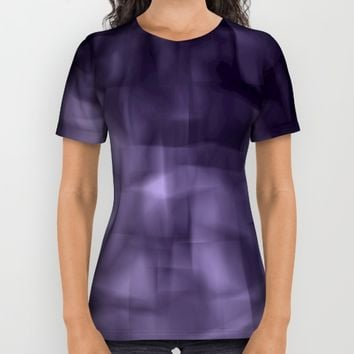 Purple abstract painting. All Over Print Shirt by VanessaGF