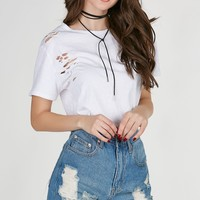Worst Behavior Distressed Tee