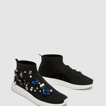 FLORAL HIGH-TOP SNEAKERS DETAILS