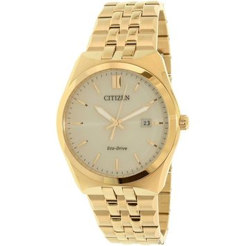 Citizen Men's Eco-Drive BM7332-61P Gold Stainless-Steel Eco-Drive Dress Watch