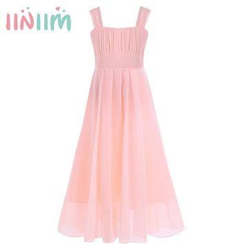 Pretty Vestidos Long Party Dress Kids Princess Birthday Party Dress Girls Wedding Bridesmaid Formal Summer Children's Clothes