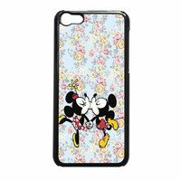 Mickey Kiss Minnie Disney Flowers iPhone 5c Case