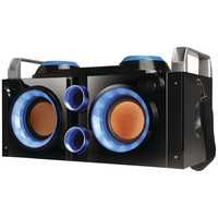 Qfx Rechargeable Bluetooth Party Pa Boombox (blue)
