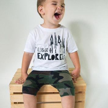 Let's Go Explorer T-Shirt - Explorer - Hipster Baby Clothes - Adventure Baby - Cute Baby Clothes