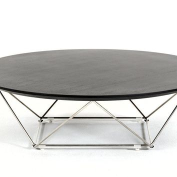 Modrest Spoke Modern Wenge Coffee Table