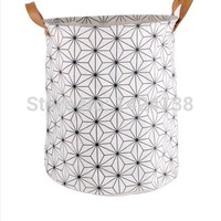 Cotton Fabric Foldable Laundry Basket - Love these