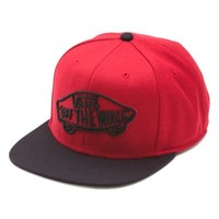 Vans Home Team Snapback Hat (Chili Pepper/Black)