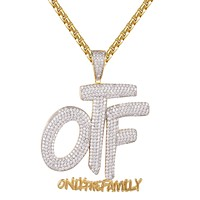 Only The Family OTF Micro Pave Gold Finish Hip Hop Pendant