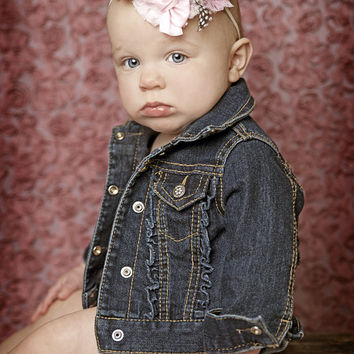 Custom Made to Match Custom Designed Headbands  - Fabric Shabby Headbands - All ages - Newborn Baby Girl Photography prop - Vintage Couture
