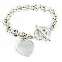 Tiffany & Co. Engravable Heart Tag Toggle Bracelet in Sterling Silver