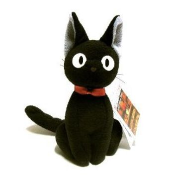 "Kiki's Delivery Service 8"" Tall Black Cat Plush Doll (Up Right)"