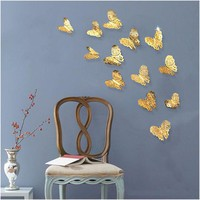 ONETOW 12pcs/lot 3D PVC Wall Stickers  Butterflies Hollow DIY  Home Decor Poster Kids Rooms Wall Decoration Party Wedding Decor