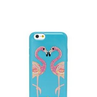 embellished flamingos resin iphone 6 case - kate spade new york