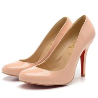 Christian Louboutin Fashion Edgy Red Sole Heels Shoes-2