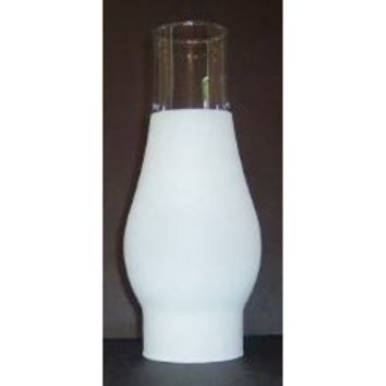 "66210 Frosted Glass Lamp Chimney 66210 - 2 5/8"" X 7 1/2"" Height X 3 1/2"" Bulge"