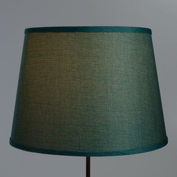 Aqua Linen Table Lamp Shade