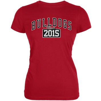 Graduation - Bulldogs Class of 2015 Red Juniors Soft T-Shirt