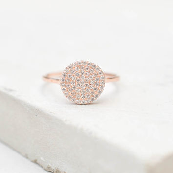 Disc Ring - Rose Gold