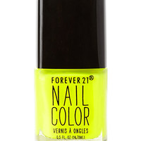 FOREVER 21 High Voltage Yellow Nail Polish Neon Yellow One