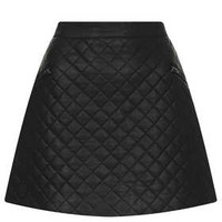 Black Quilted Aline Skirt - Skirts  - Clothing
