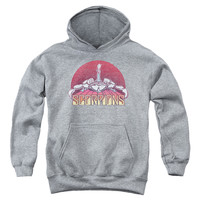 SCORPIONS/SCORPIONS COLOR LOGO DISTRESSED-YOUTH PULL-OVER HOODIE-ATHLETIC HEATHER