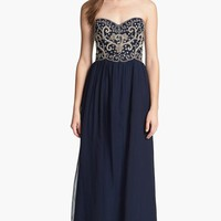Sean Collection Embellished Strapless Silk Gown (Online Only)
